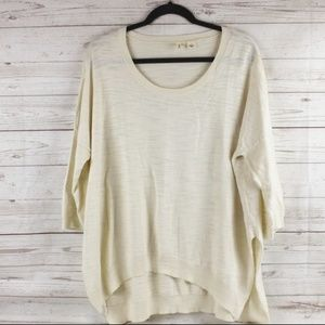 Anthropologie MOTH L Cream Sweater